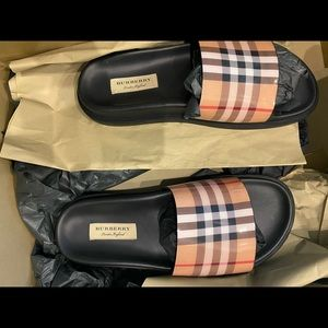 Burberry Leather Slides